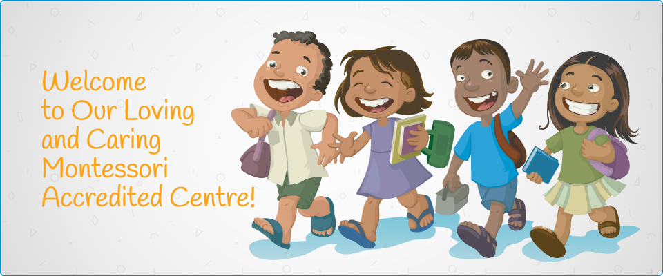 Illustration of kids | Welcome to Our Loving and Caring Montessori Accredited Centre!
